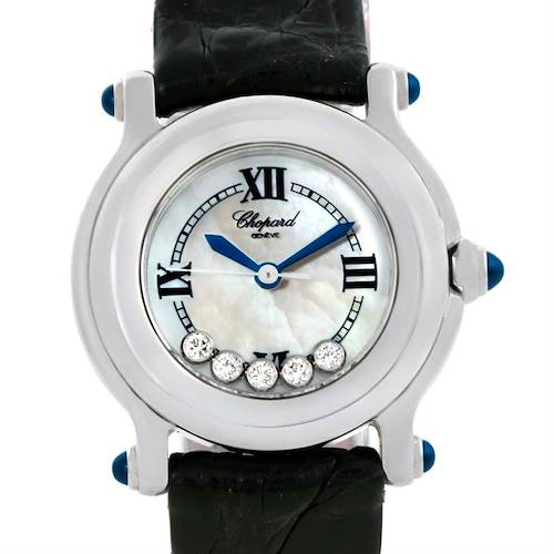 Photo of Chopard Happy Sport Mother of Pearl Dial Diamond Watch 27/8245-23