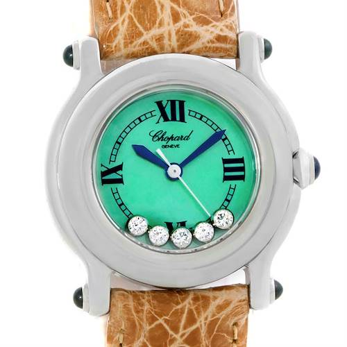 Photo of Chopard Happy Sport Green Mother Pearl Dial Diamond Watch 27/8245-23