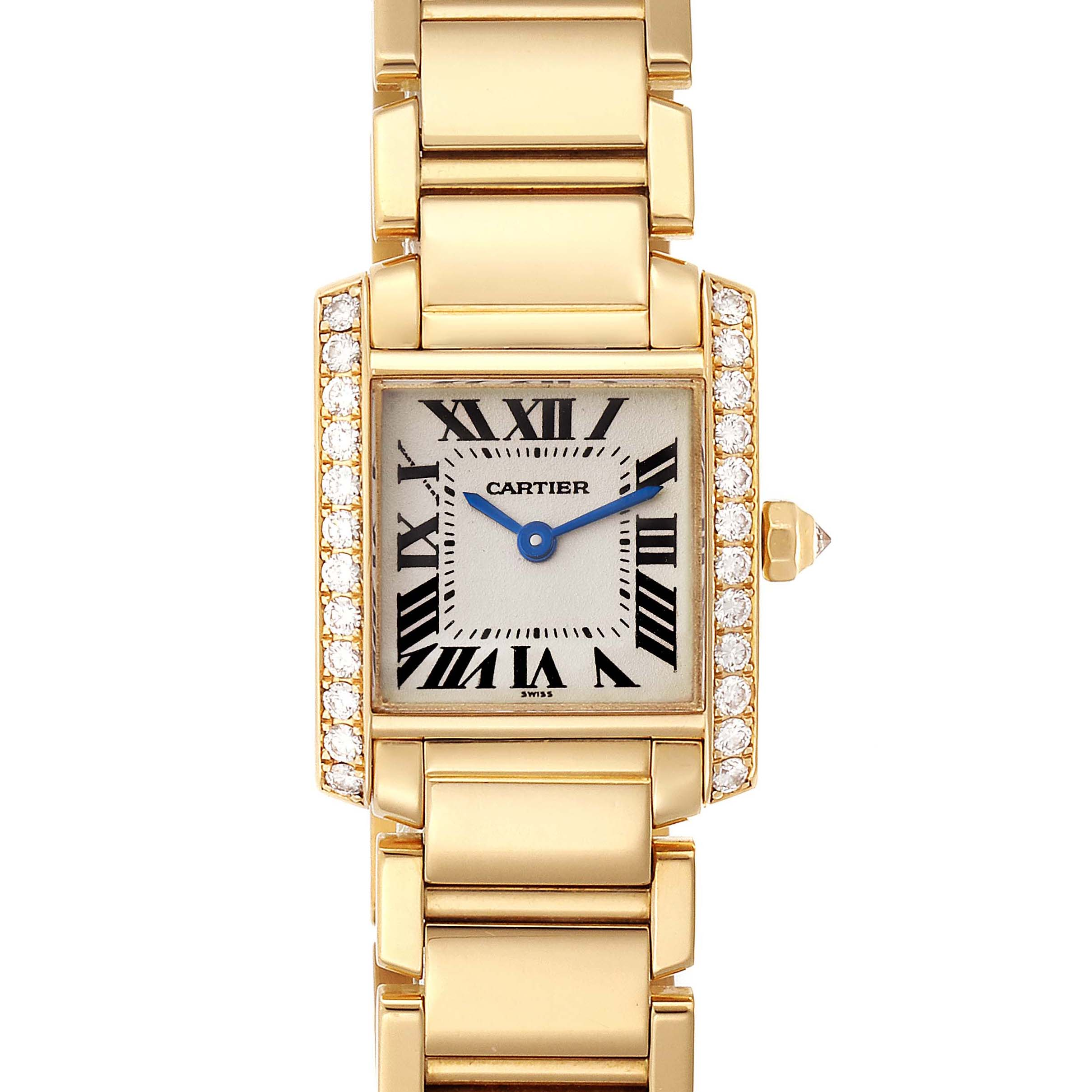 Photo of Cartier Tank Francaise 18K Yellow Gold Diamond Ladies Watch WE1001R8