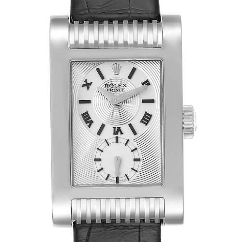 Photo of Rolex Cellini Prince White Gold Silver Dial Mens Watch 5441 Unworn