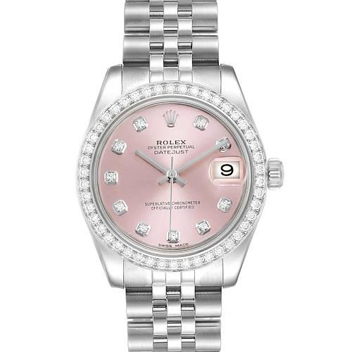 Photo of Rolex Datejust Midsize 31 Steel White Gold Diamond Ladies Watch 178384