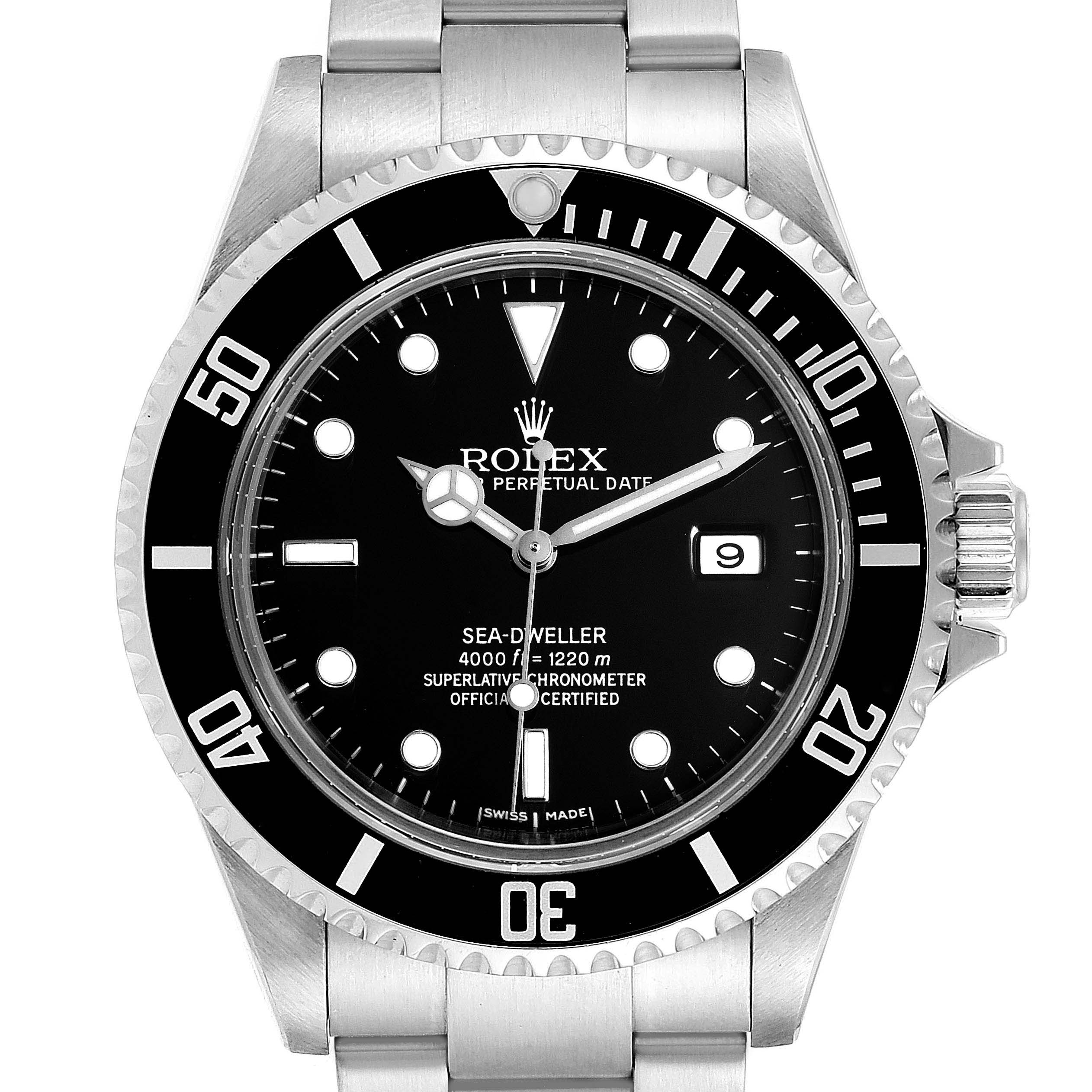 Photo of Rolex Seadweller Black Dial Oyster Bracelet Mens Watch 16600 Box Papers
