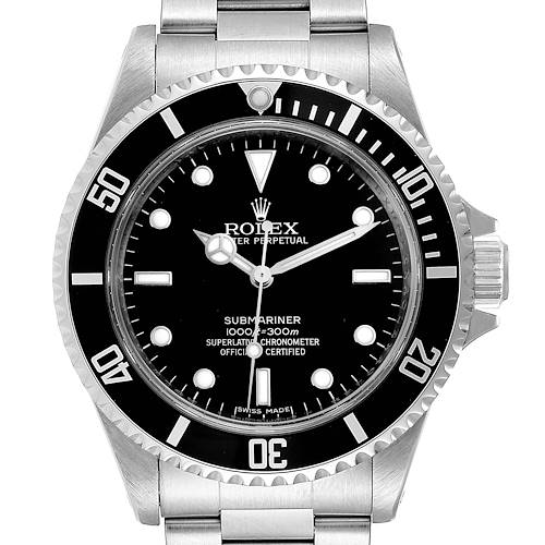 Photo of Rolex Submariner Non-Date 4 Liner Steel Mens Watch 14060 Box Card