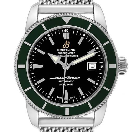Photo of Breitling Superocean Heritage 42 Green Bezel Steel Mens Watch A17321