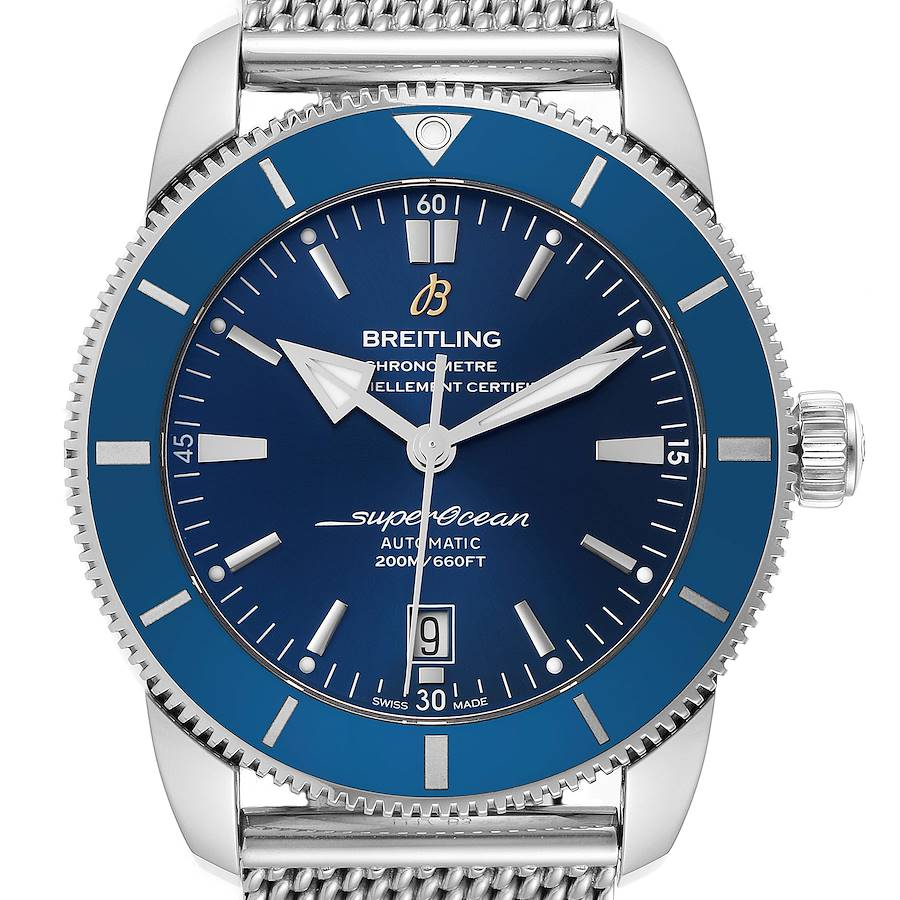 Breitling Superocean Heritage 46 Blue Dial Mens Watch AB2020 Box Papers SwissWatchExpo