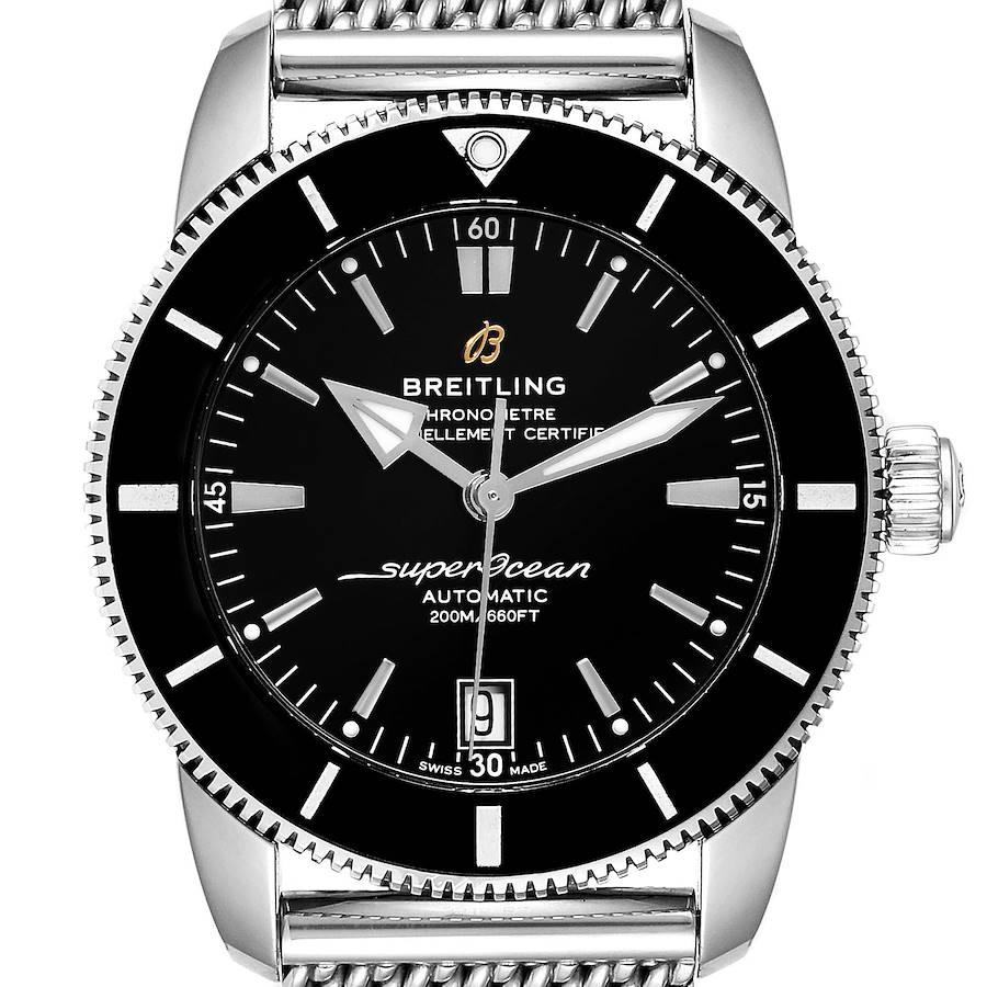 Breitling Superocean Heritage II 42 Black Dial Steel Watch AB2010 Box Papers SwissWatchExpo