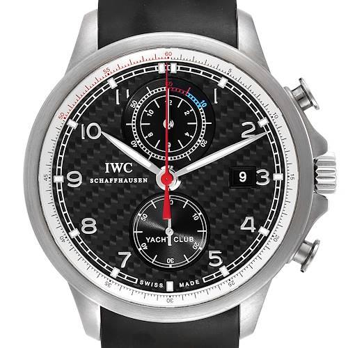 Photo of IWC Portuguese Yacht Club Titanium Carbon Dial Chronograph Watch IW390212