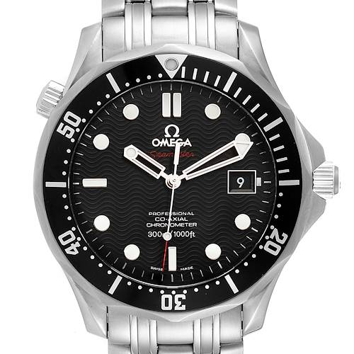 Photo of Omega Seamaster Black Dial Steel Mens Watch 212.30.41.20.01.002