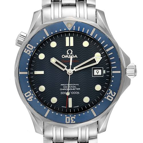 Photo of Omega Seamaster Bond 300M Co-Axial 41mm Blue Dial Watch 2220.80.00