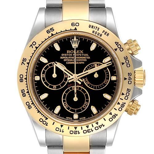 Photo of Rolex Cosmograph Daytona Steel Yellow Gold Black Dial Mens Watch 116503