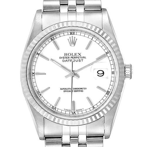 Photo of Rolex Datejust 36 Steel White Gold Jubilee Bracelet Mens Watch 16234
