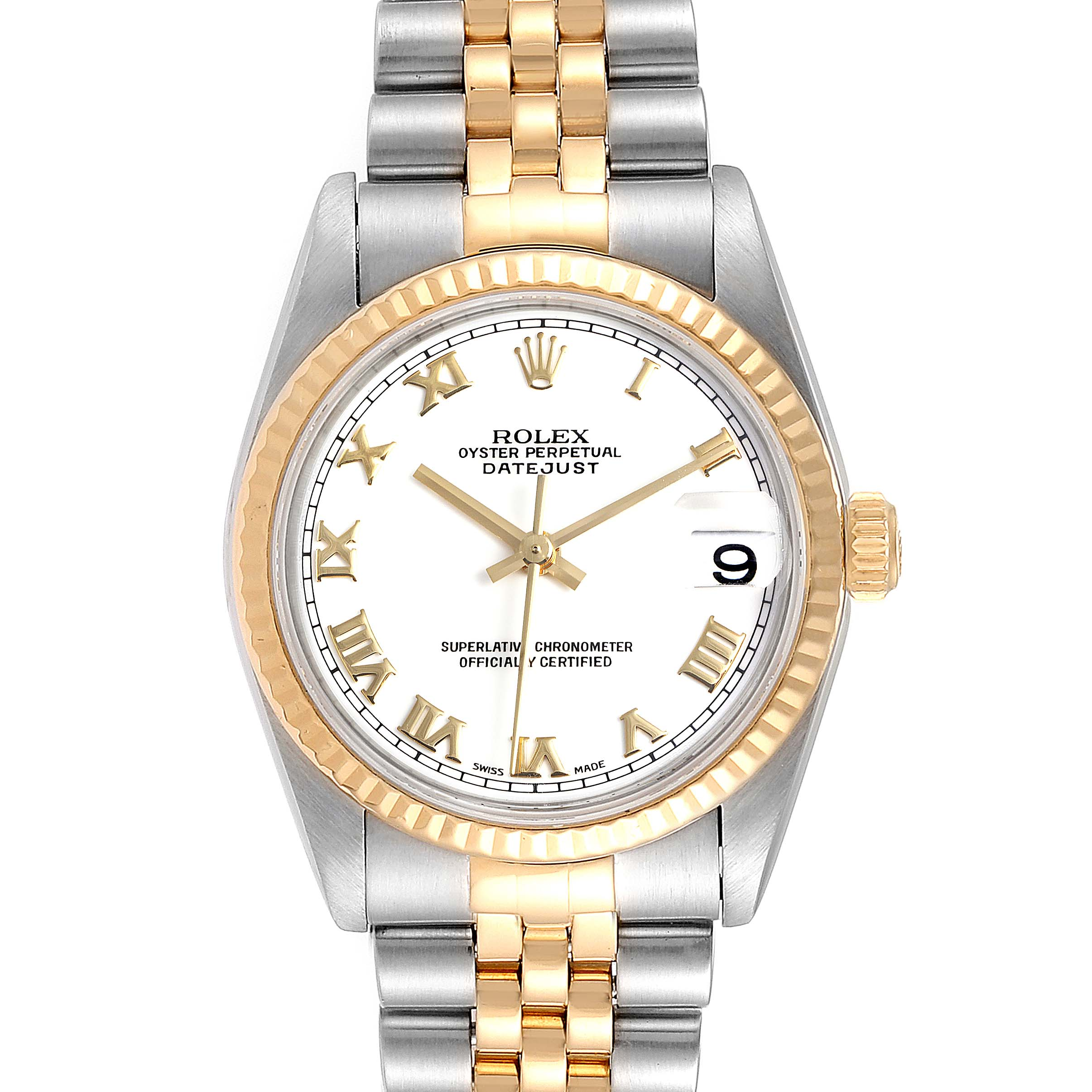 Photo of Rolex Datejust Midsize Steel Yellow Gold Ladies Watch 78273 Box Papers