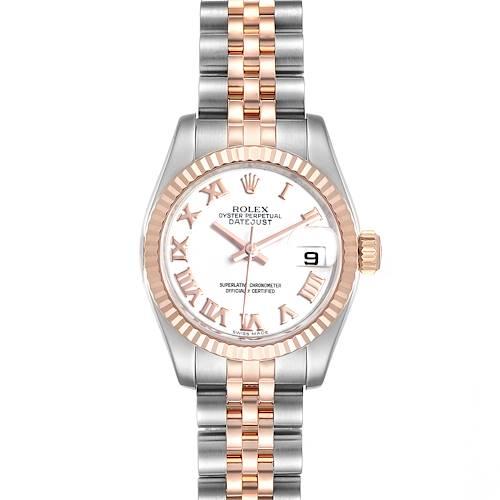 Photo of Rolex Datejust Steel Everose Gold Ladies Watch 179171 Box Card