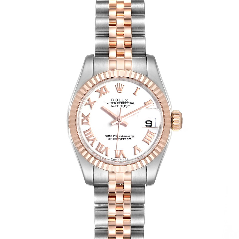 Rolex Datejust Steel Everose Gold Ladies Watch 179171 Box Card SwissWatchExpo
