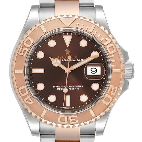 Photo of Rolex Yachtmaster 40 Everose Gold Steel Brown Dial Watch 116621 Unworn