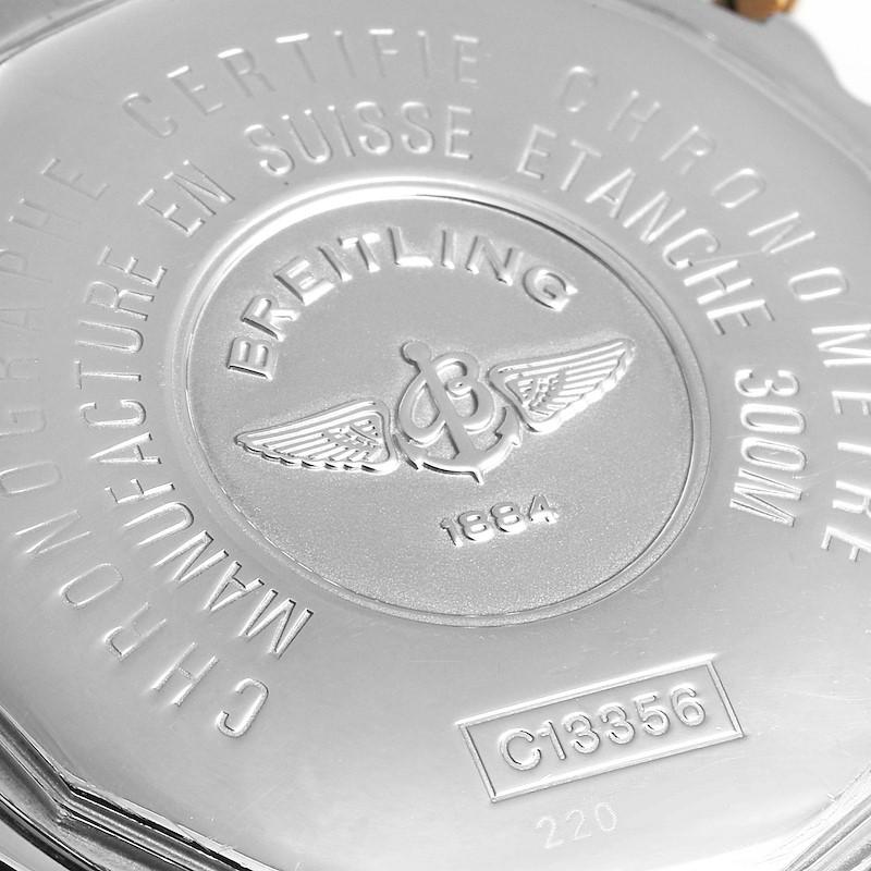 Breitling Chronomat Evolution Steel Rose Gold Diamond Watch C13356 SwissWatchExpo
