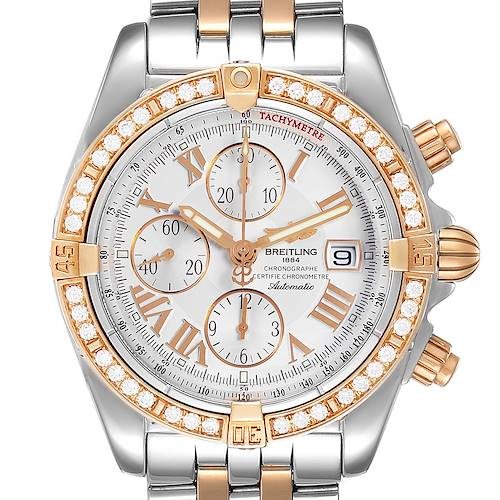 Photo of Breitling Chronomat Evolution Steel Rose Gold Diamond Watch C13356