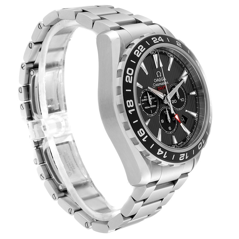 Omega Seamaster Aqua Terra GMT Watch 231.10.44.52.06.001 Box Papers SwissWatchExpo