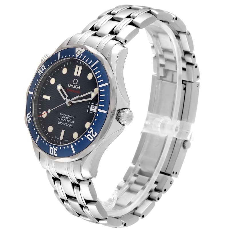 Omega Seamaster Bond 300M Co-Axial Steel Mens Watch 2220.80.00 Box Card SwissWatchExpo