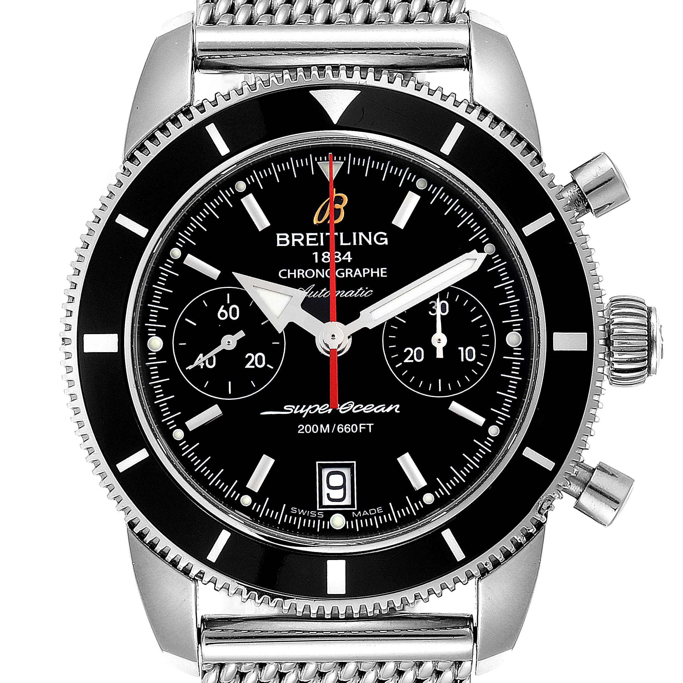 Photo of Breitling SuperOcean Heritage Chrono Black Dial Watch A23370 Box Papers