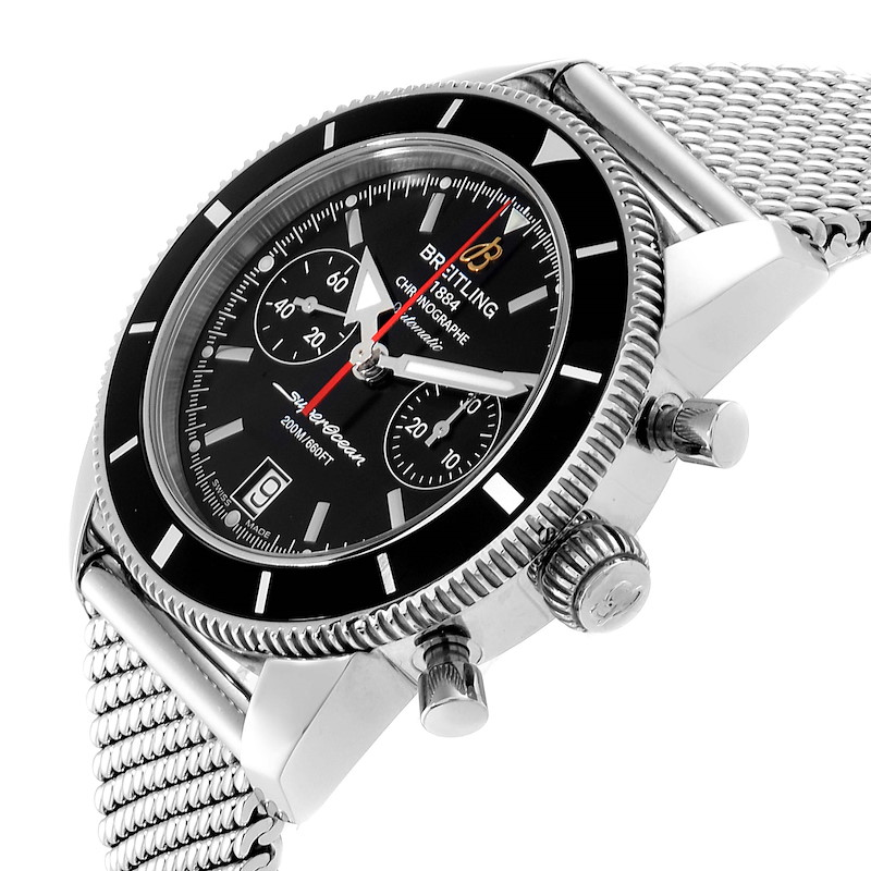 Breitling SuperOcean Heritage Chrono Black Dial Watch A23370 Box Papers SwissWatchExpo