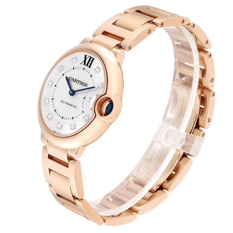 Cartier Ballon Bleu 36 Rose Gold Diamond Ladies Watch WE902026 SwissWatchExpo