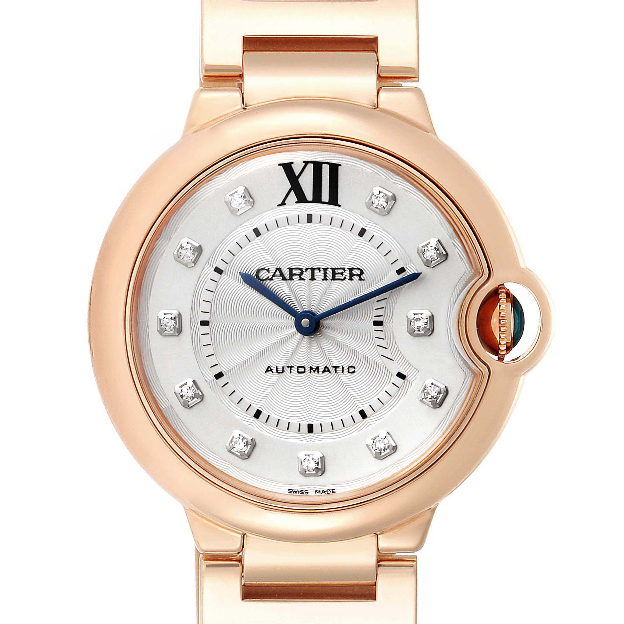 Photo of Cartier Ballon Bleu 36 Rose Gold Diamond Ladies Watch WE902026