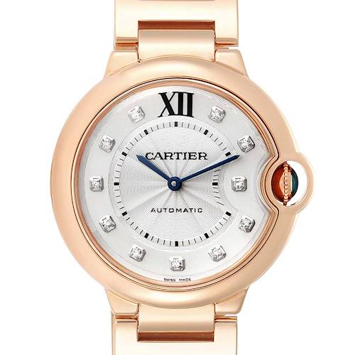 Photo of Cartier Ballon Bleu 36 Rose Gold Diamond Ladies Watch WE902026