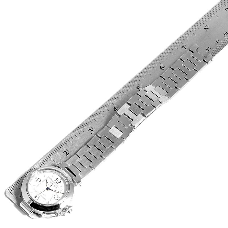 Cartier Pasha C 35 White Dial Stainless Steel Unisex Watch W31074M7 SwissWatchExpo