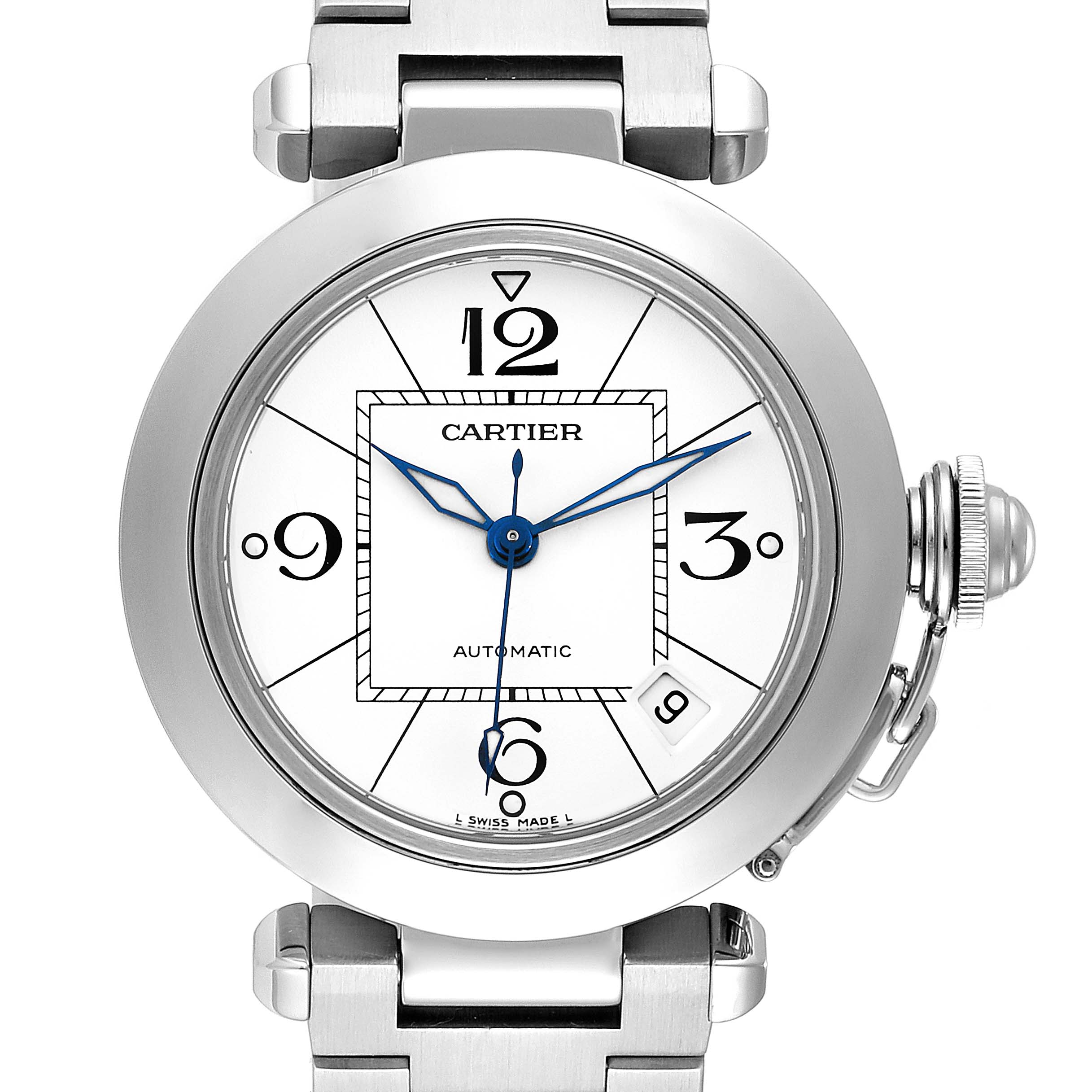 Photo of Cartier Pasha C 35 White Dial Stainless Steel Unisex Watch W31074M7