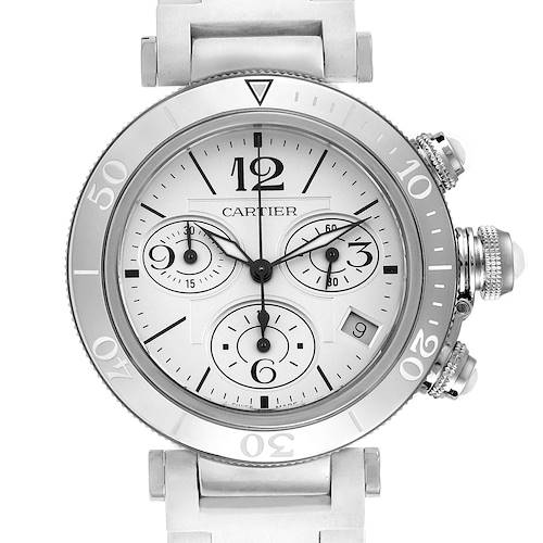 Photo of Cartier Pasha Seatimer Chronograph Rubber Strap Ladies Watch W3140005