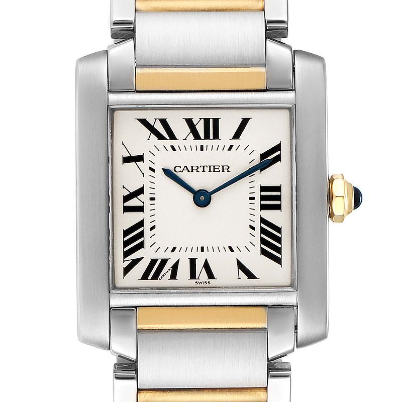 Cartier Tank Francaise Midsize Two Tone Ladies Watch W2TA0003 SwissWatchExpo
