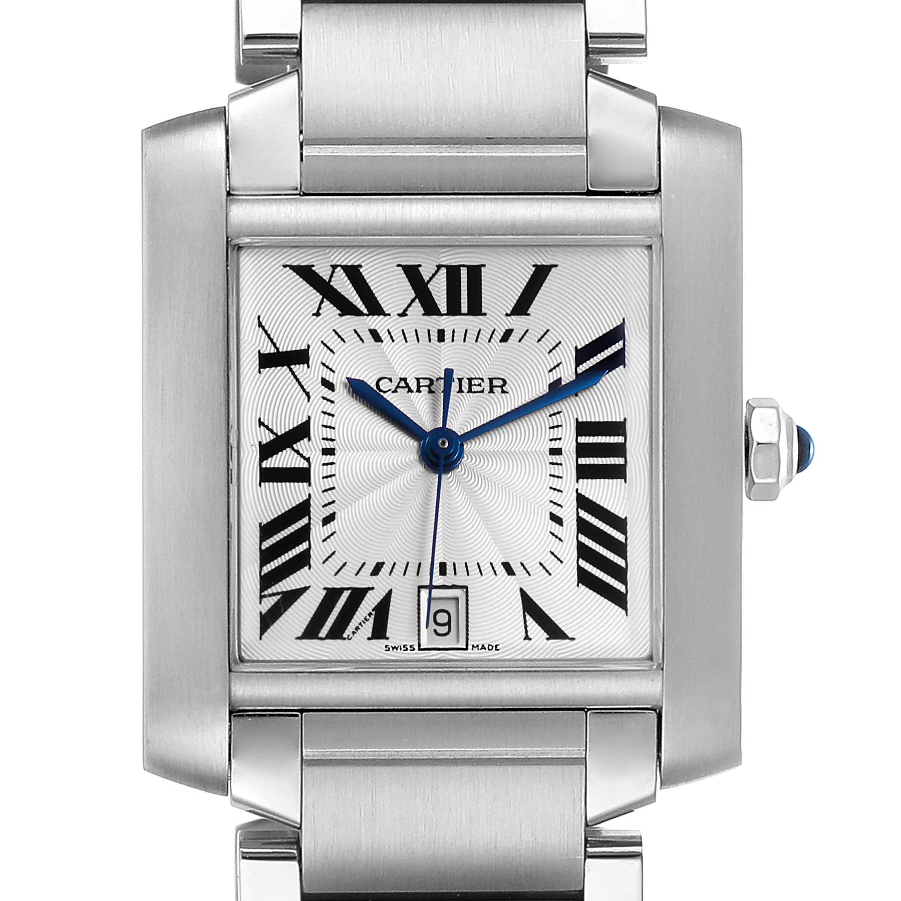 Photo of Cartier Tank Francaise Silver Dial Automatic Steel Mens Watch W51002Q3