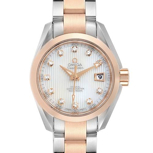 Photo of Omega Aqua Terra Steel Rose Gold Diamond Watch 231.20.30.20.55.001