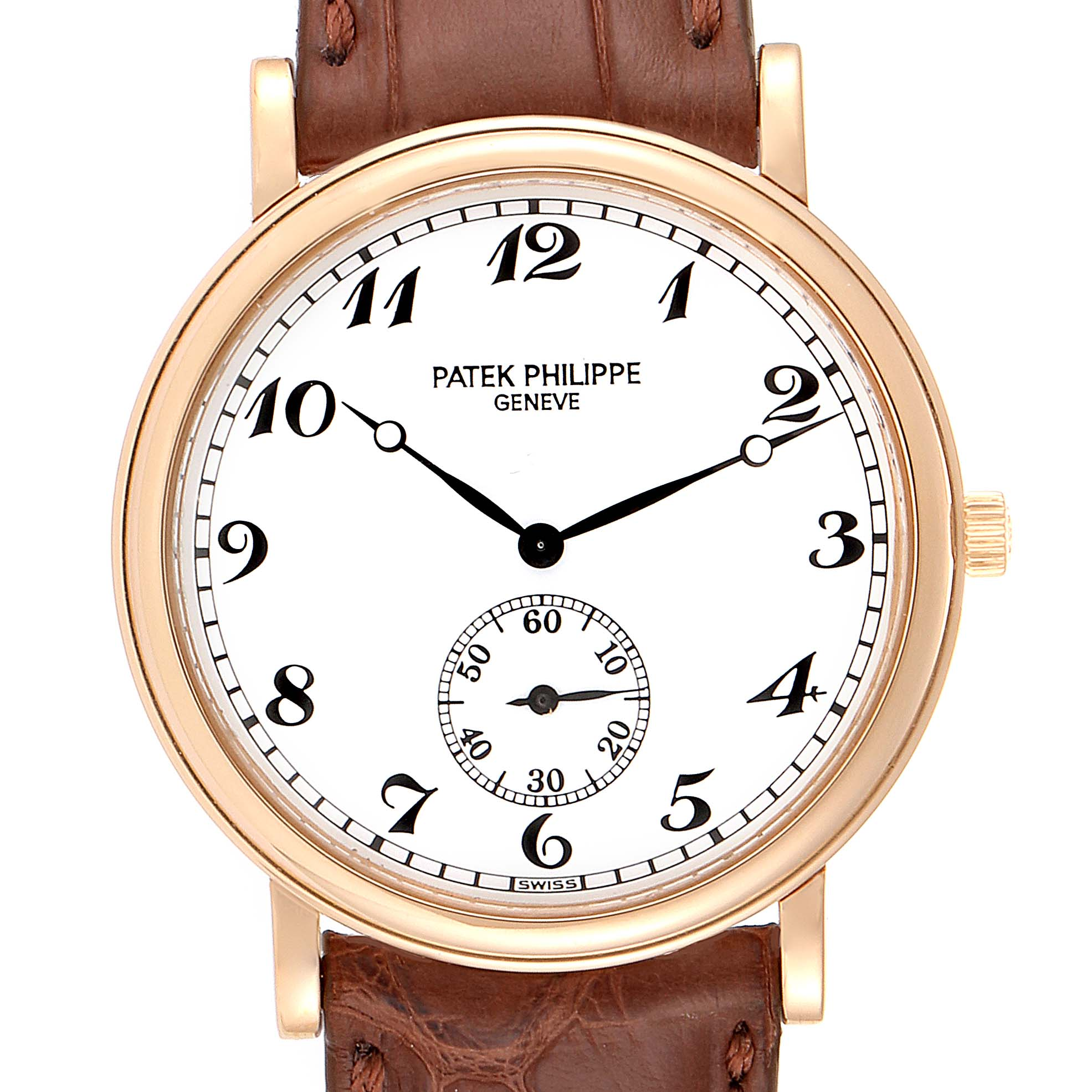 Patek Philippe Calatrava Officier 18K Rose Gold Mens Watch 5022