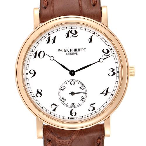 Photo of Patek Philippe Calatrava Officier 18K Rose Gold Mens Watch 5022