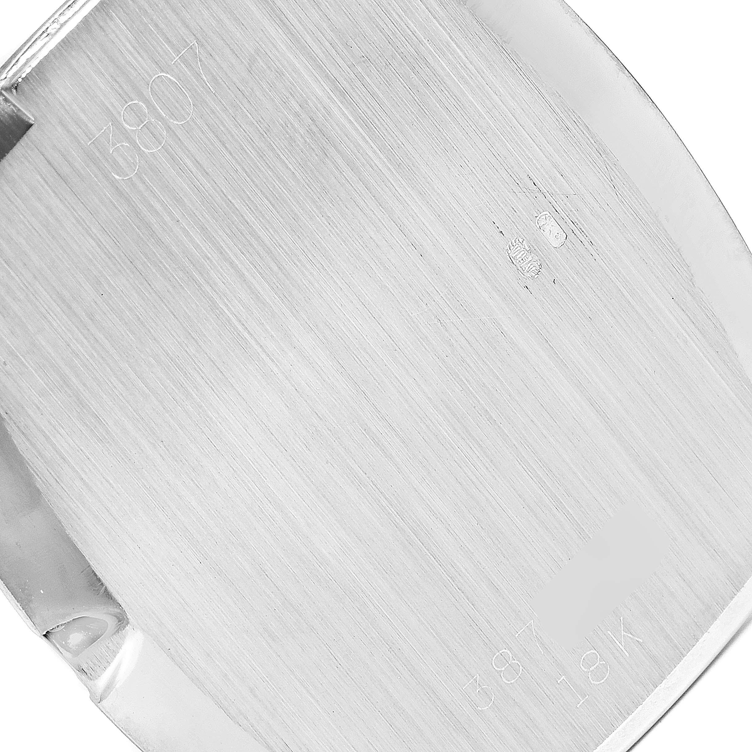 Rolex Cellini White Gold Blue Vignette Dial Vintage Ladies Watch 3807 SwissWatchExpo