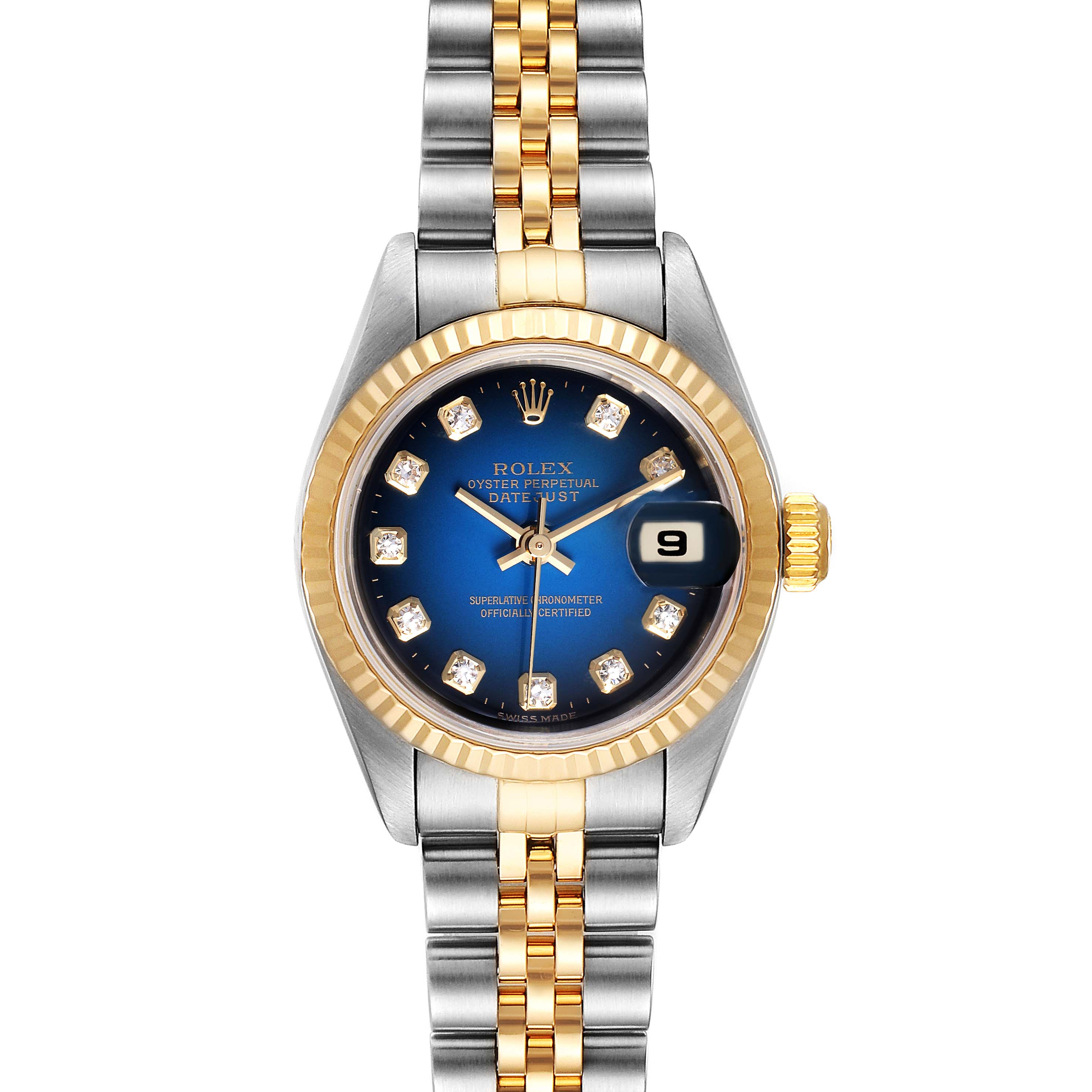 Photo of Rolex Datejust Steel Yellow Gold Vignette Diamond Ladies Watch 79173 Box Papers
