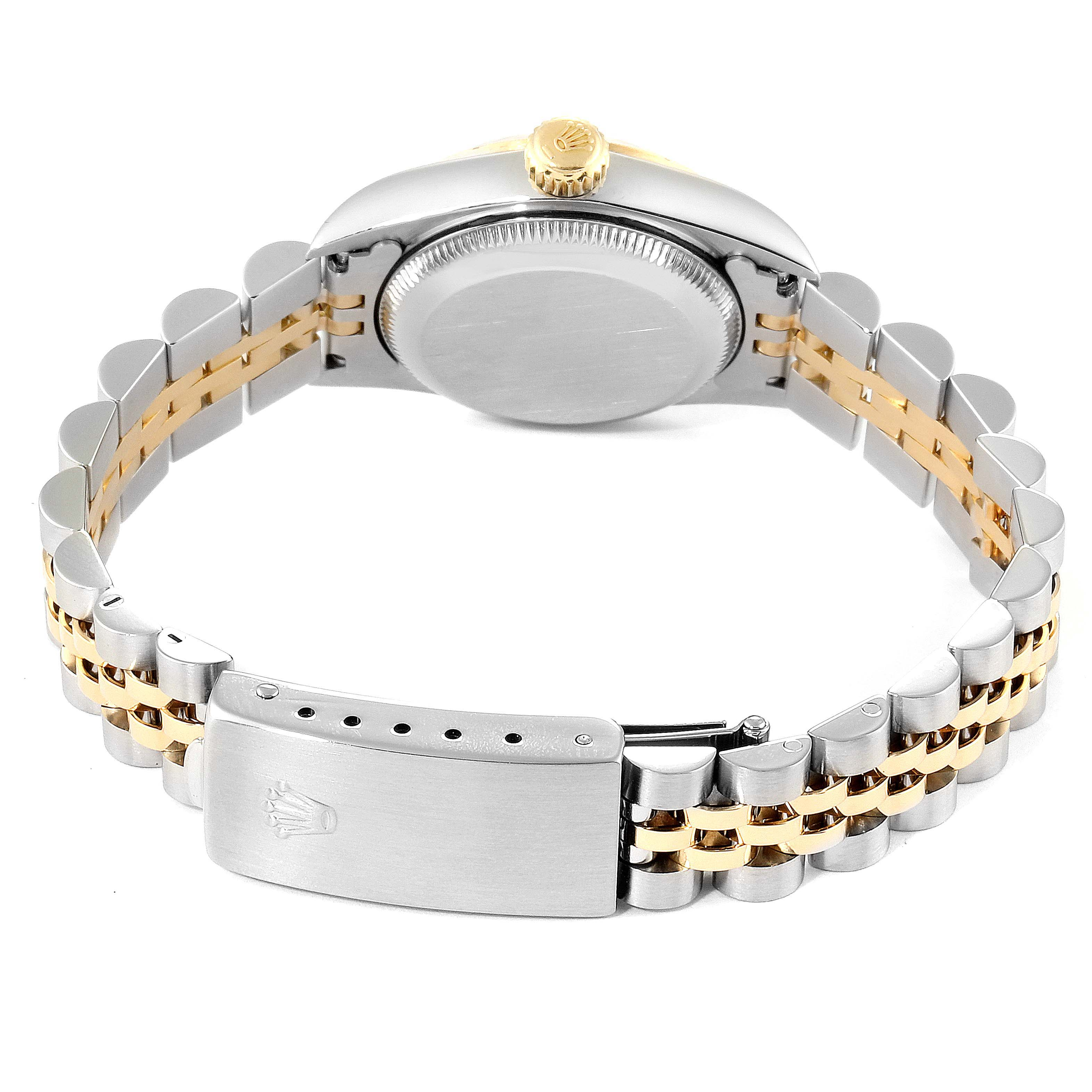Rolex Oyster Perpetual NonDate Ladies Steel Yellow Gold Watch 67243 SwissWatchExpo