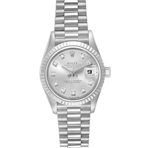 Photo of Rolex President Datejust 26 White Gold Diamond Ladies Watch 69179