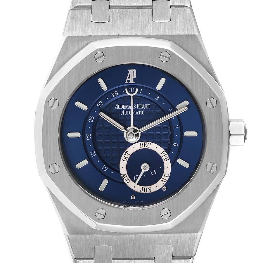 Audemars Piguet Royal Oak Annual Calendar Blue Dial Steel Mens Watch 25920ST SwissWatchExpo