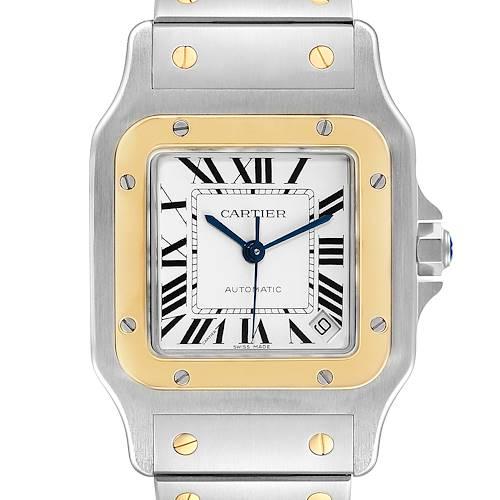 Photo of Cartier Santos Galbee XL Steel Yellow Gold Mens Watch W20099C4 Unworn