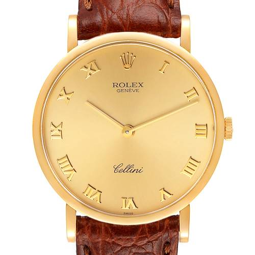 Photo of Rolex Cellini Classic 18K Yellow Gold Champagne Dial Mens Watch 5112