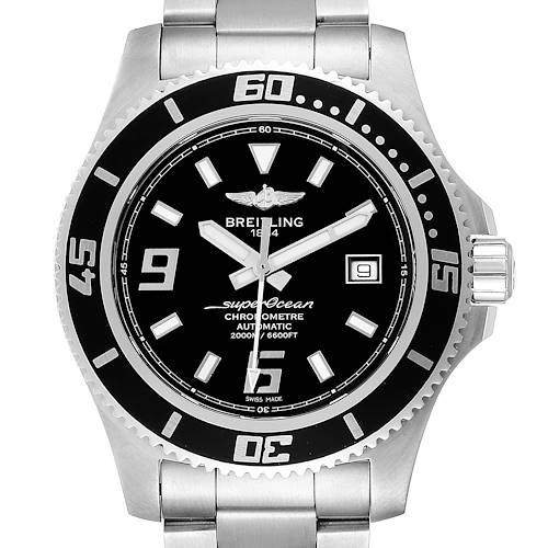 Photo of Breitling Aeromarine Superocean 44 Black Dial Steel Mens Watch A17391
