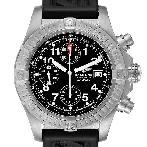 Photo of Breitling Avenger Black Dial Chronograph Titanium Watch E13360 Box