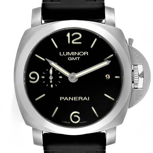 Photo of Panerai Luminor 1950 3 Days GMT 44mm Mens Watch PAM00320 Box Papers
