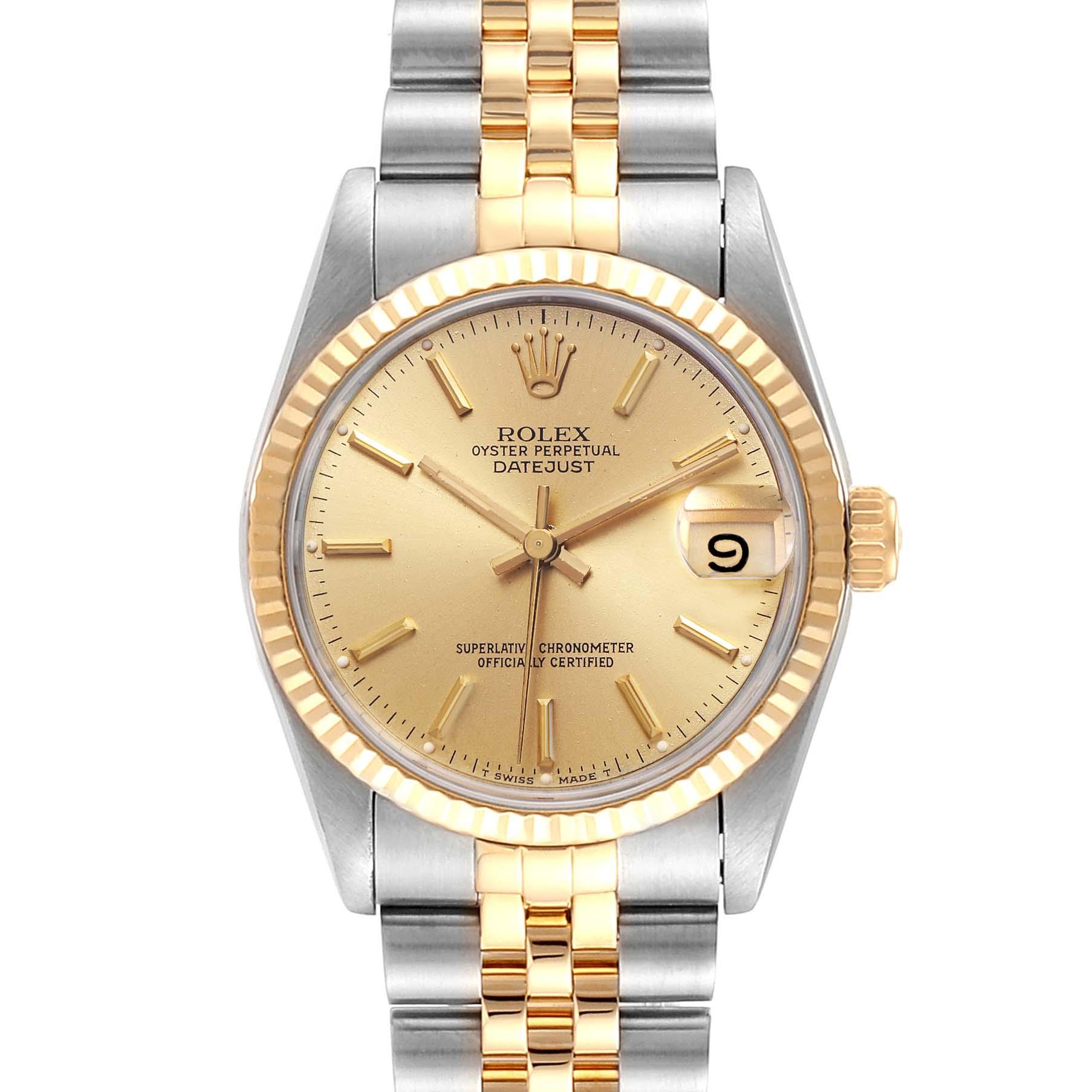 Photo of Rolex Datejust Midsize 31mm Steel Yellow Gold Ladies Watch 68273 Box
