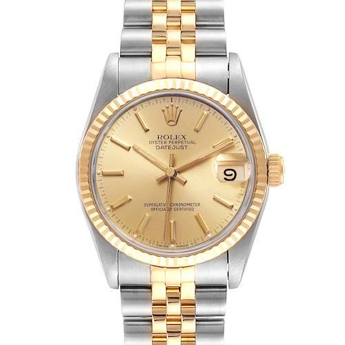 Photo of Rolex Datejust Midsize 31mm Steel Yellow Gold Ladies Watch 68273 Box