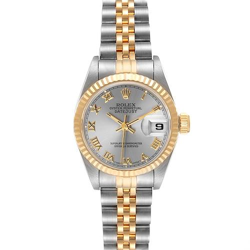 Photo of Rolex Datejust Steel Yellow Gold Grey Dial Ladies Watch 69173 Box Papers