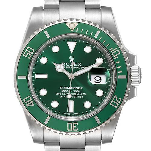 Photo of Rolex Submariner Hulk Green Dial Bezel Mens Watch 116610LV Unworn